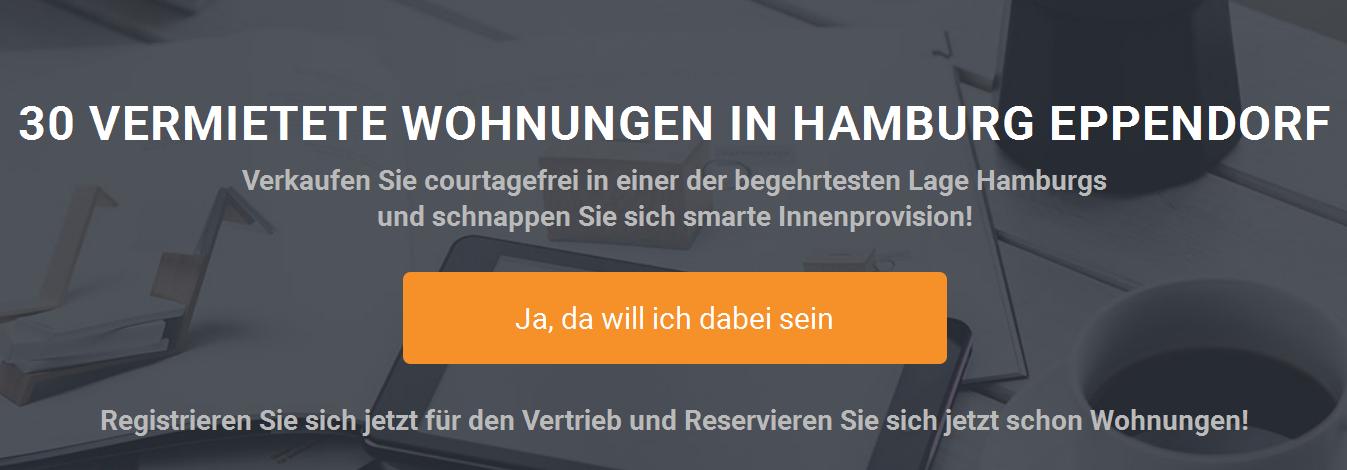 30 Kapitalanlageimmobilien in Hamburg Eppendorf für den Vertrieb