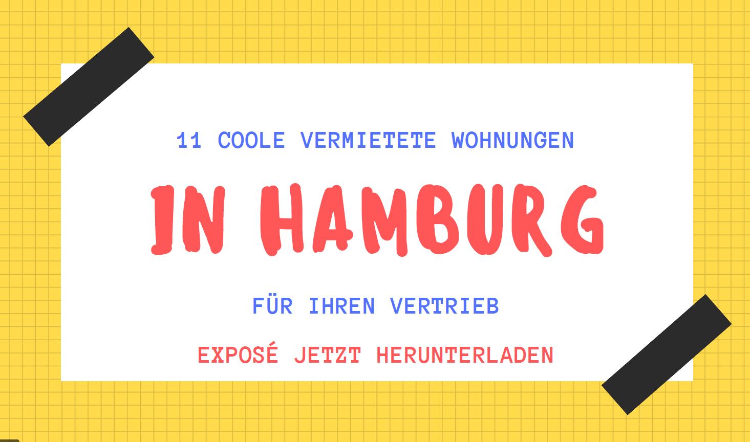 11 vermietete Wohnungen in Hamburg für Ihren Vertrieb