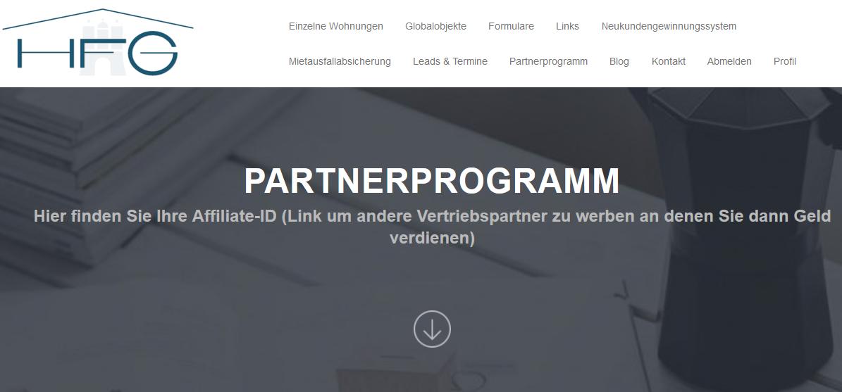 Neues Partnerprogramm für Investmentimmobilie – Geld verdienen ohne zu verkaufen